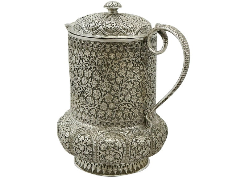 1880s Antique Indian Silver Water Jug At 1stdibs