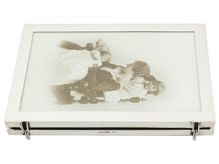 Antique George V Sterling Silver Double Photograph Frame 2