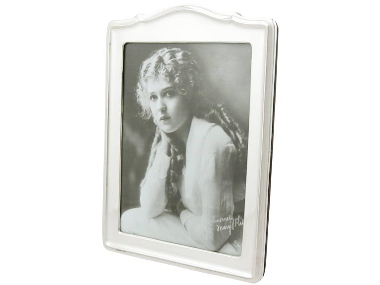 English 1920s Sterling Silver Photograph Frame For Sale