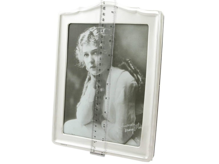 1920s Sterling Silver Photograph Frame For Sale 4