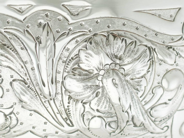 Antique Edwardian Sterling Silver Presentation Bowl by James Deakin & Sons For Sale 2
