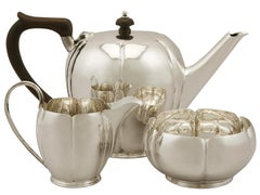 1938 Antique Sterling Silver Three Piece Tea Service