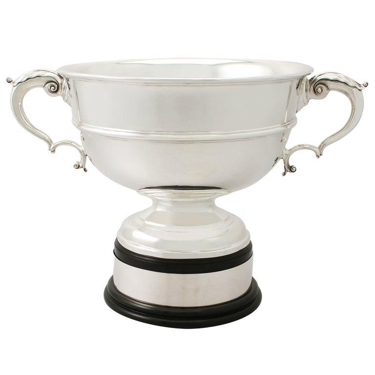 Antique Sterling Silver Presentation Bowl by Charles Stuart Harris