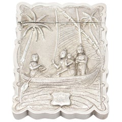 Antique Indian Silver Card Case, circa 1890