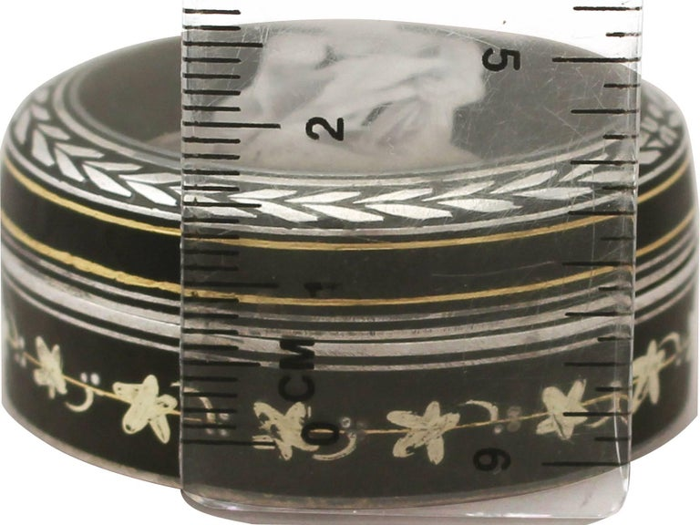 Great Britain (UK) Antique Continental Sterling Silver and Transfer Printed Box For Sale