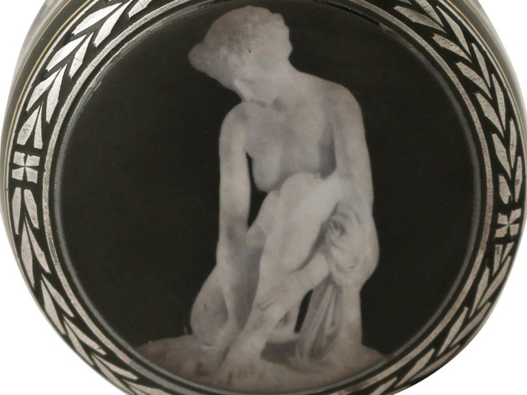 Antique Continental Sterling Silver and Transfer Printed Box In Excellent Condition For Sale In Jesmond, Newcastle Upon Tyne