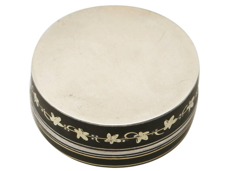 Antique Continental Sterling Silver and Transfer Printed Box For Sale 4