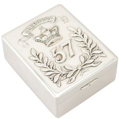 Antique Indian Colonial Silver Cigarette Box, circa 1930
