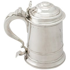 Early Georgian Antique Newcastle Sterling Silver Tankard