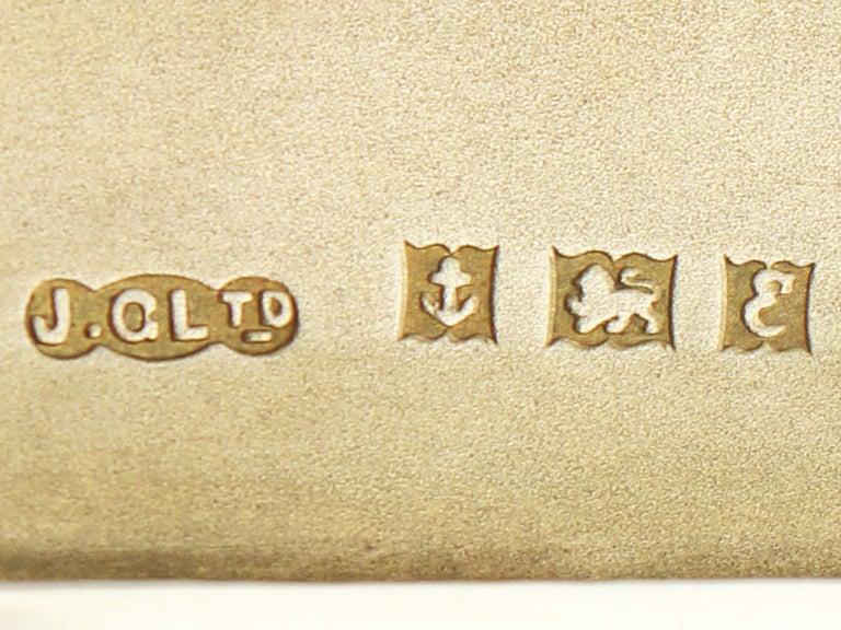 Elizabeth II Sterling Silver and Enamel Cigarette Case - Vintage For Sale 2