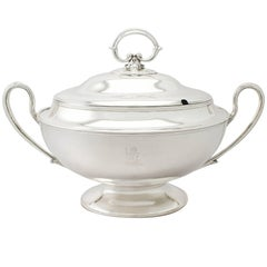 Edwardian English Sterling Silver Soup Tureen