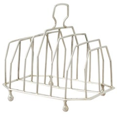 Georgian Sterling Silver Toast/Letter Rack