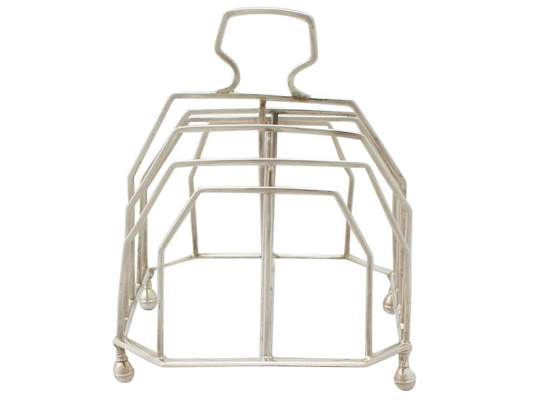 George III Antique Georgian Sterling Silver Toast/Letter Rack, 1796 For Sale