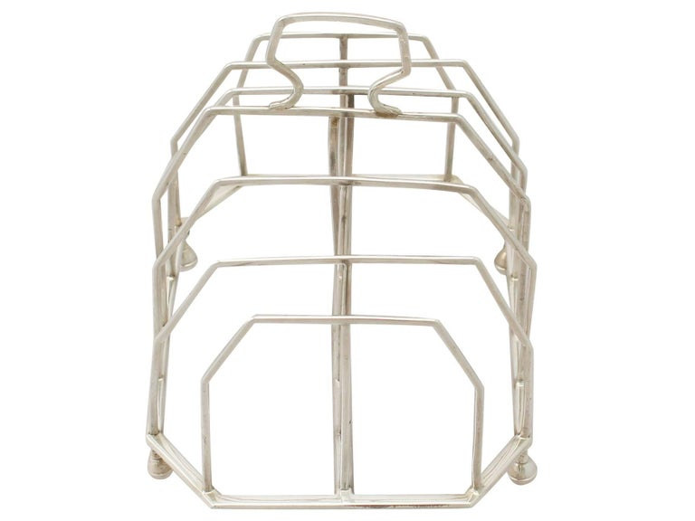 Great Britain (UK) Antique Georgian Sterling Silver Toast/Letter Rack, 1796 For Sale