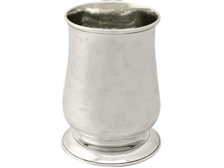 George III Newcastle Sterling Silver Pint Mug by John Langlands I & John Robertson I 329g For Sale