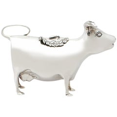 English Sterling Silver Cow Creamer by Mappin and Webb