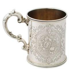 Antique Victorian Sterling Silver Christening Mug by Edward & John Barnard