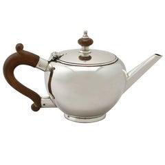 Vintage Elizabeth II, George I Style, Sterling Silver Bachelor Teapot