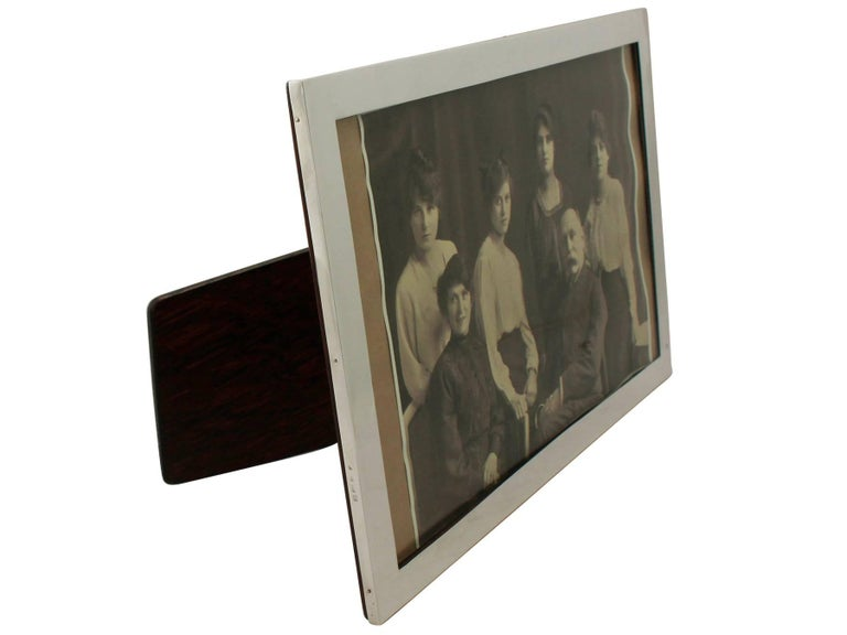 English Antique George V Sterling Silver Photograph Frame For Sale