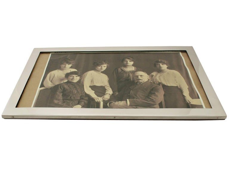 Antique George V Sterling Silver Photograph Frame For Sale 1