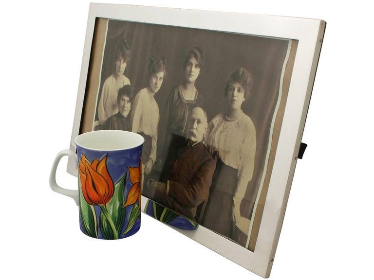 Antique George V Sterling Silver Photograph Frame For Sale 3