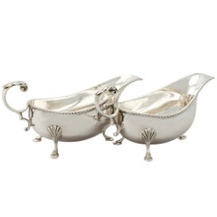 Vintage 1960s Sterling Silver Sauceboats / Gravy Boats