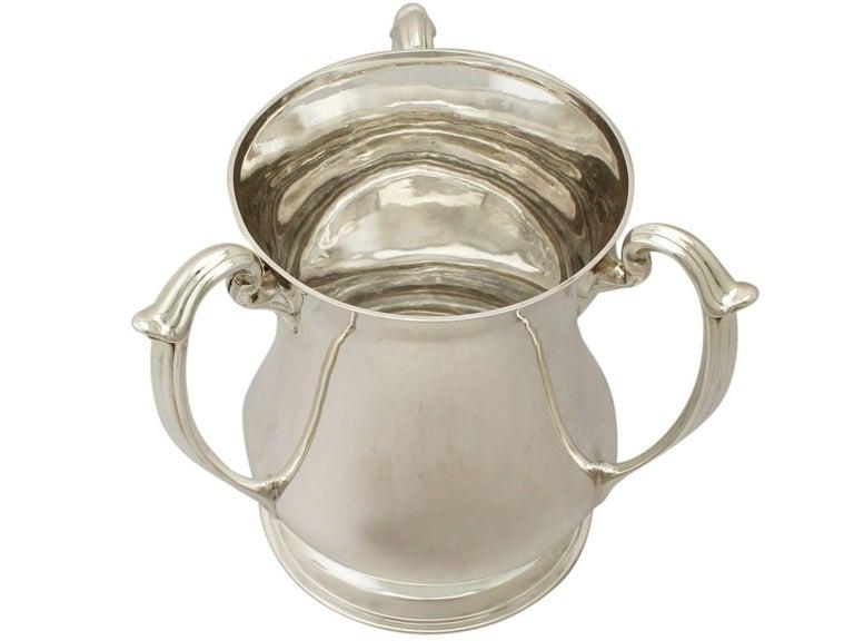 English Antique Edwardian Art Nouveau Style Sterling Silver Presentation/Champagne Cup For Sale