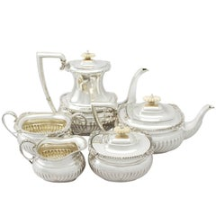 Antique Sterling Silver Five Piece Tea and Coffee Service, 1936