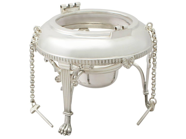 Early 20th Century Antique Edwardian Queen Anne Style Sterling Silver Four-Piece Tea Service For Sale