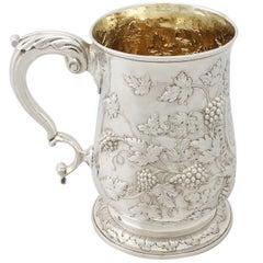 Antique Georgian Sterling Silver Quart Mug