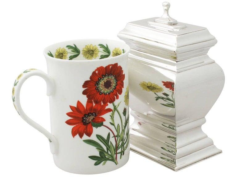English Antique Britannia Standard Silver Tea Caddy For Sale