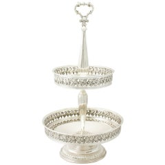 Contemporary Elizabeth II Sterling Silver Cake Stand or Centerpiece