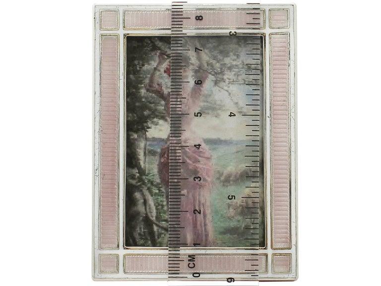 Antique Edwardian Sterling Silver and Enamel Photograph Frame For Sale 4
