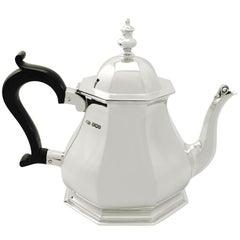 Antike Queen Anne Stil 1927 Sterlingsilber Teekanne