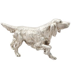 Contemporary Sterling Silver Model of an Irish Setter