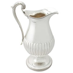 Antique George iv 1815 Sterling Silver Wine Ewer or Flagon