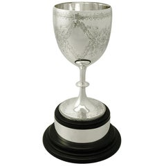 Antique Victorian Charles Stuart Harris Sterling Silver Presentation Cup, 1875