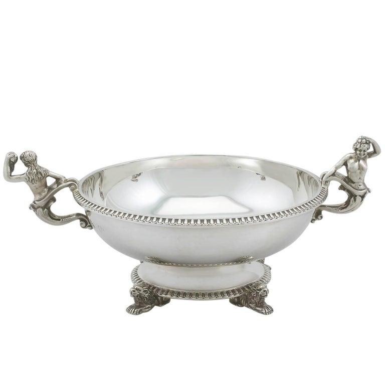 Antique Victorian Sterling Silver Sugar/Bon Bon Bowl For Sale