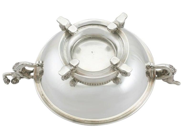 Antique Victorian Sterling Silver Sugar/Bon Bon Bowl For Sale 4