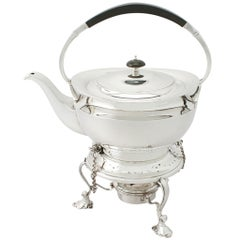 Antique George V Sterling Silver Spirit Kettle