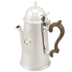 Antique Edwardian Sterling Silver Coffee Pot