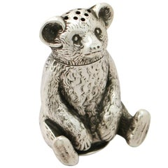 Edwardian English Sterling Silver 'Bear' Pepperette
