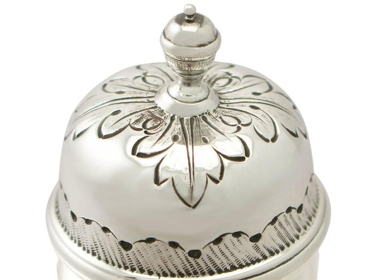 Late 19th Century Britannia Standard Silver Tea Caddy, George I Style, Antique Victorian For Sale