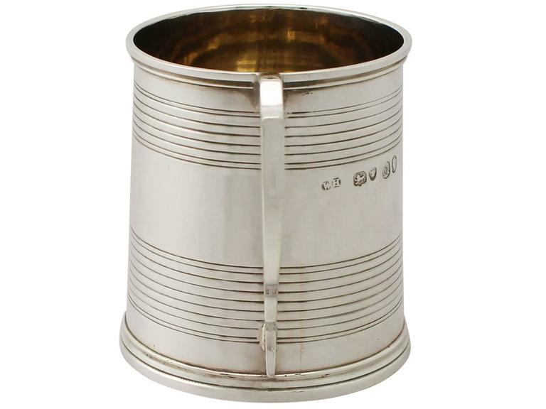 Sterling Silver Christening Mug, Antique Victorian In Excellent Condition For Sale In Jesmond, Newcastle Upon Tyne