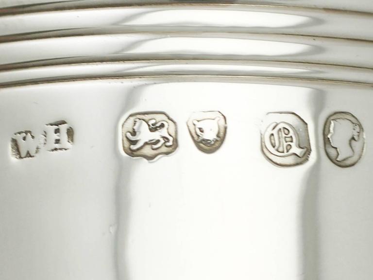 Sterling Silver Christening Mug, Antique Victorian For Sale 2
