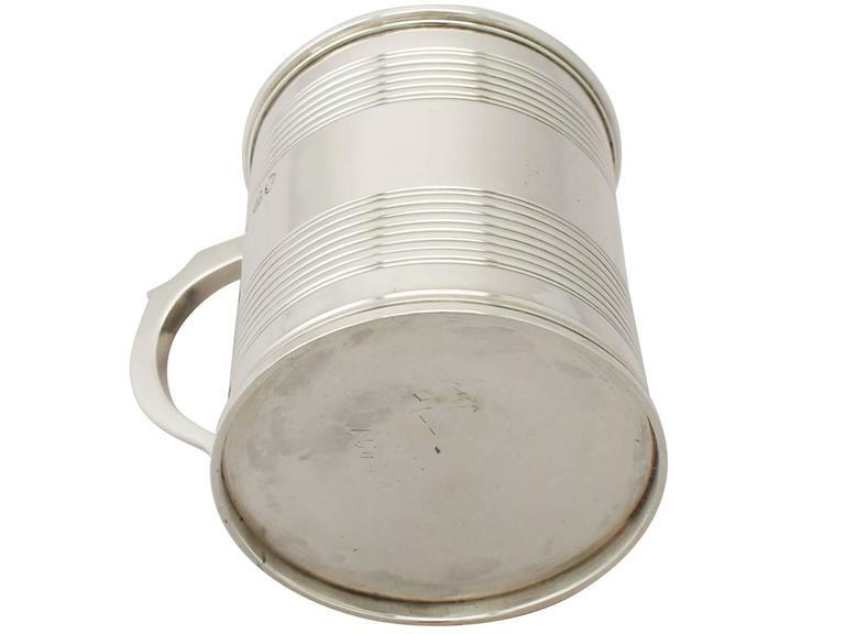 Sterling Silver Christening Mug, Antique Victorian For Sale 3