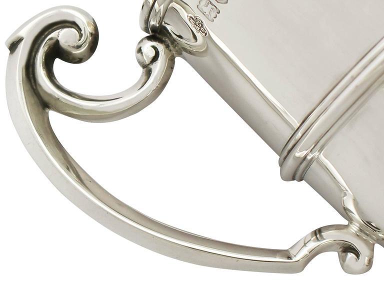 Sterling Silver Christening Mug, Antique George V For Sale 1