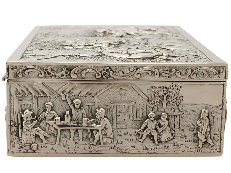 German Silver Jewelry Box Antique circa 1900 at 1stdibs