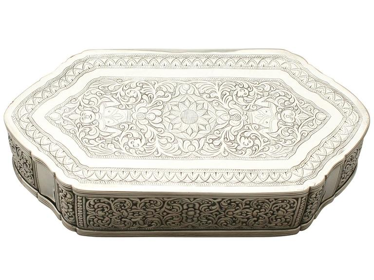 Antique Indian Silver Box For Sale At 1stdibs