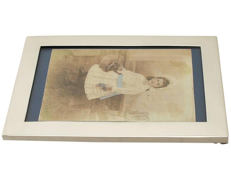 Sterling Silver Photograph Frame For Sale 2